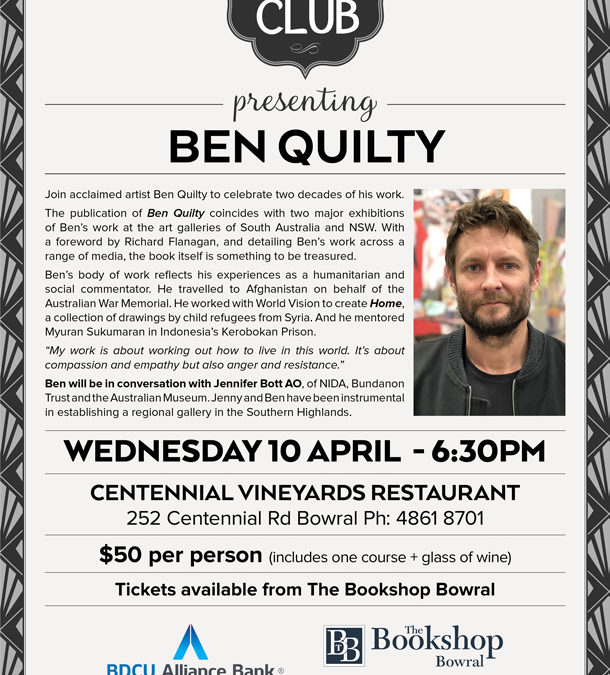 Supper Club Ben Quilty