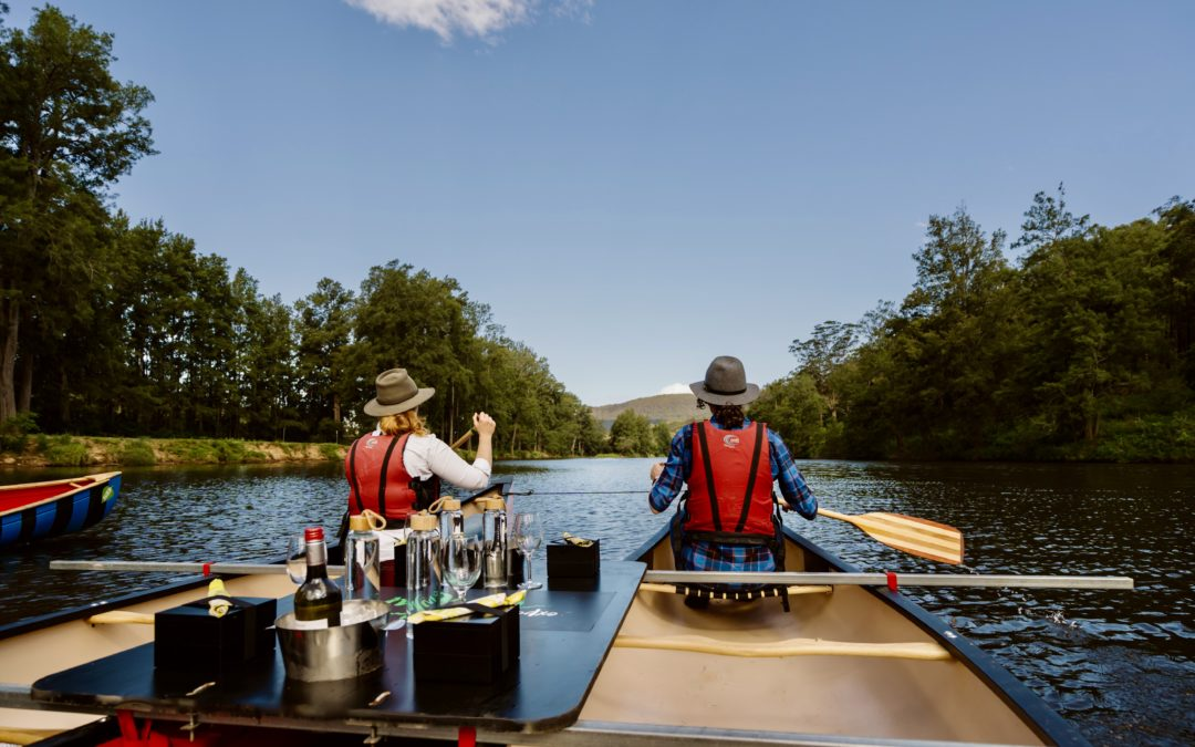 Canoes, Cool Climate Wines and Canapes